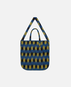 Ikat Pattern Grocery Bag (Blue)