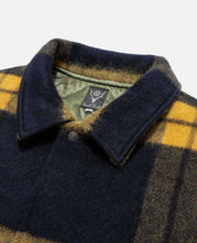Shaggy Tweed Coach Jacket (Navy)