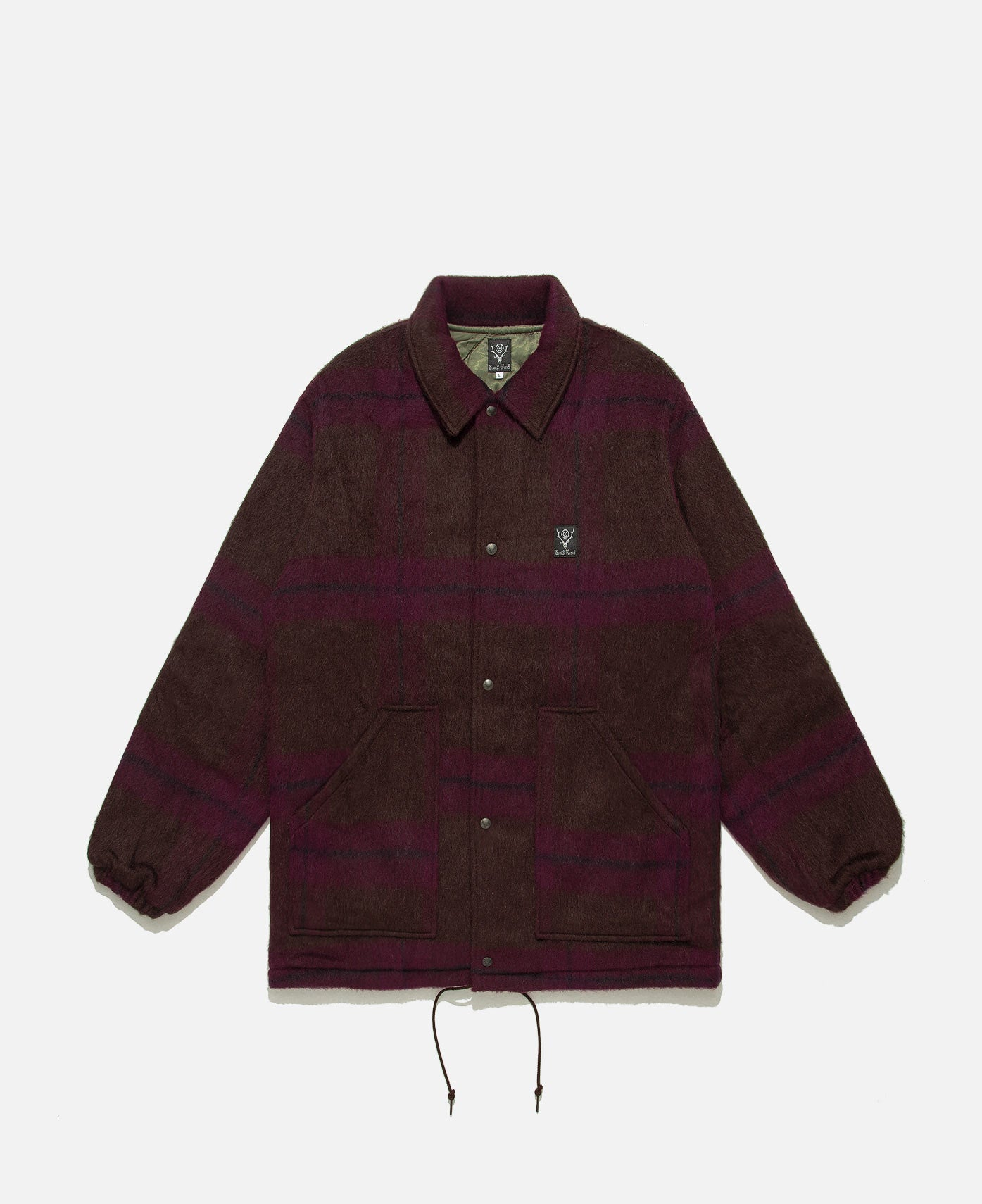 Shaggy Tweed Coach Jacket (Brown)