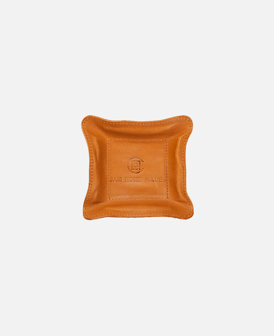 JHM LEATHER TRAY SMALL (BROWN)