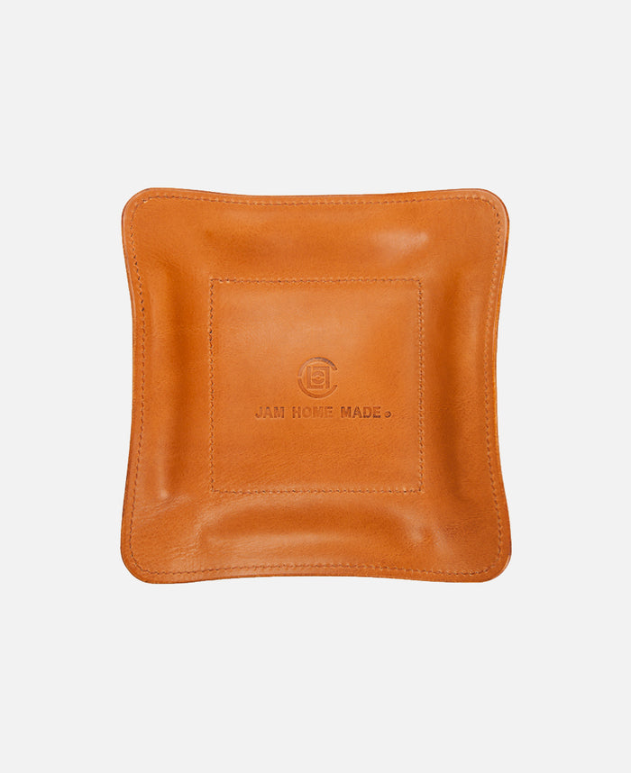 JHM LEATHER TRAY MEDIUM (BROWN)