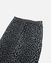 Leopard Fleece Sweatpants (Grey)