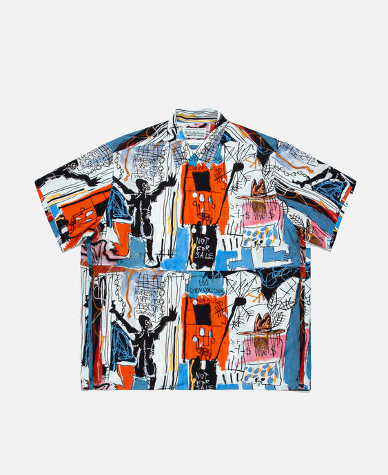 S/S Hawaiian Shirt (Type-3) (White)