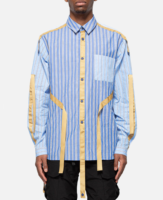 Striped Broad Taped Shirt (Blue)