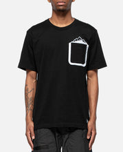 Mountain Printed Pocket T-Shirt (Black)