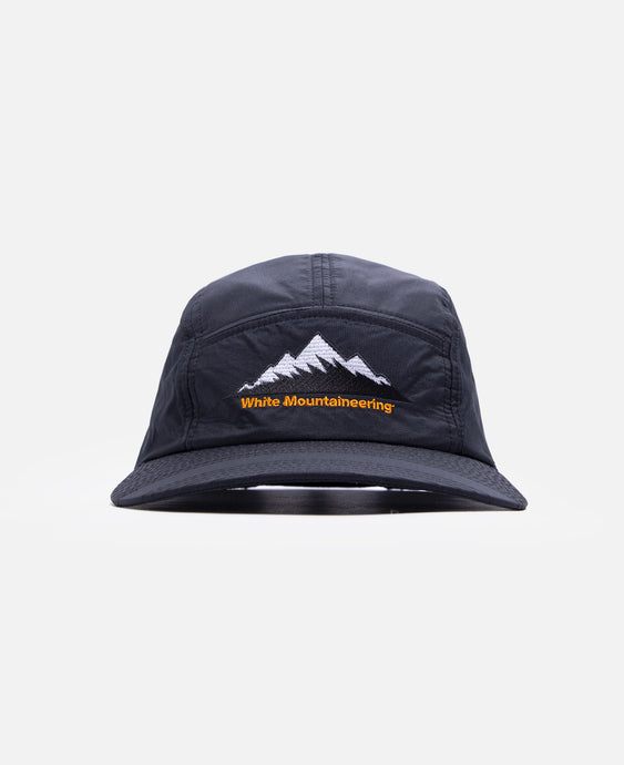 Mountain Logo Embroidered Jet Cap (Black)