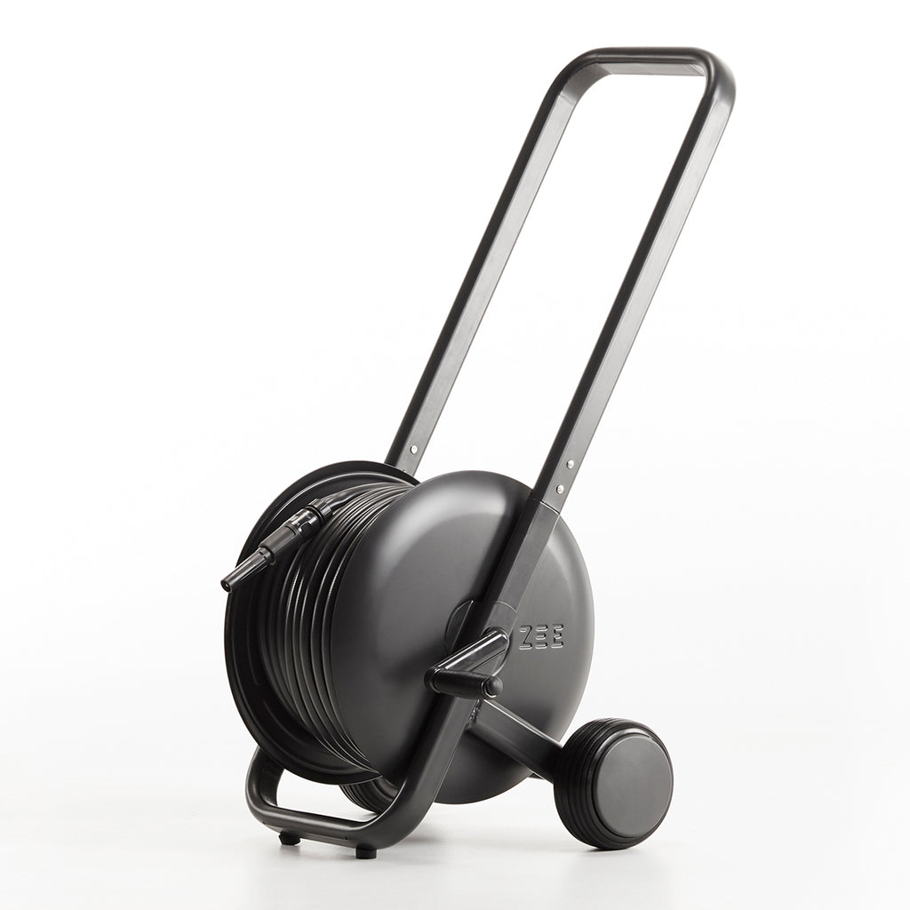 Tasman hose trolley black (50m)