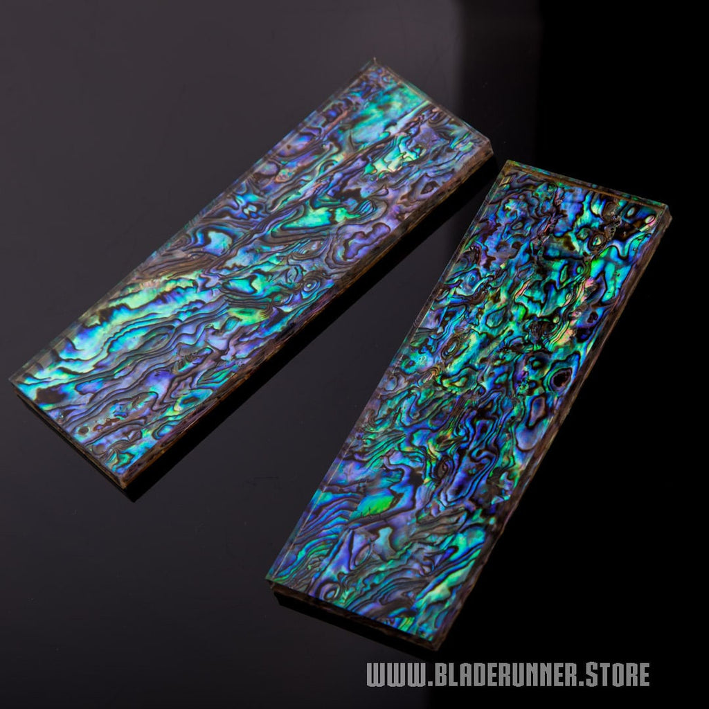"Carbon Fiber Rods >> Premium 1/4"" Jewel Abalone Knife Scales - Natural Abalone with Acrylic – Blade Runner Store"