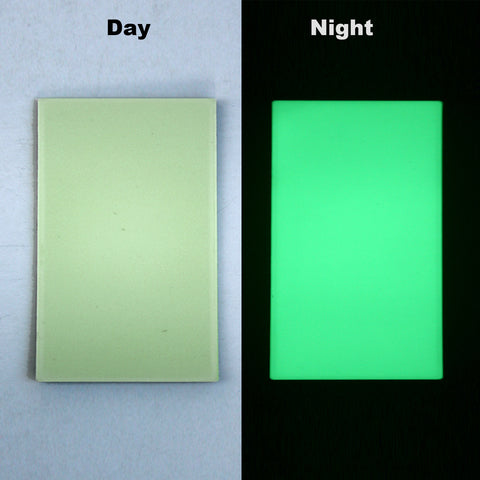 Glow in the Dark Acrylic Plate for Knife Scales/Liner 5\  x 3\  ... & Glow in the Dark Acrylic Plate for Knife Scales/Liner 5\