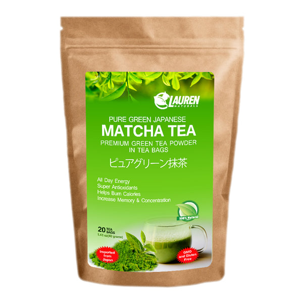 Organic Pure Matcha Green Tea Powder in Tea Bags