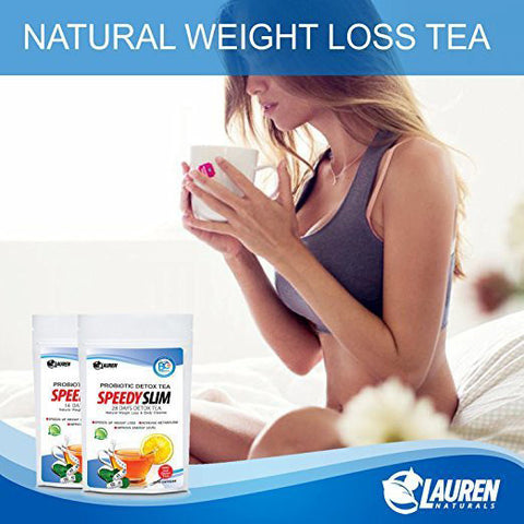 Organic Flat Tummy Tea Detox -- 28 Day Supply with Probiotic