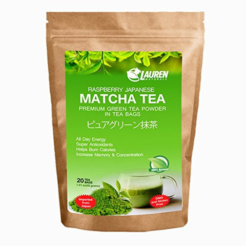 Raspberry Flavored Matcha TEA BAGS
