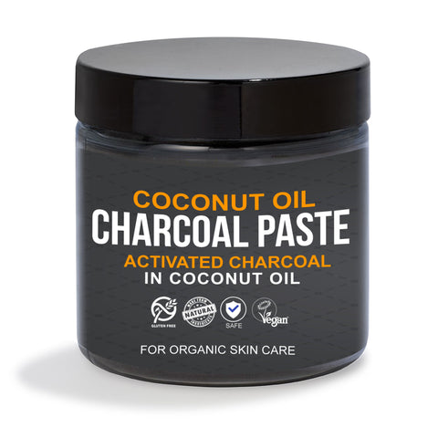 Activated Charcoal in Organic Coconut Oil for Skin Care- (Sample, 0.25 oz)