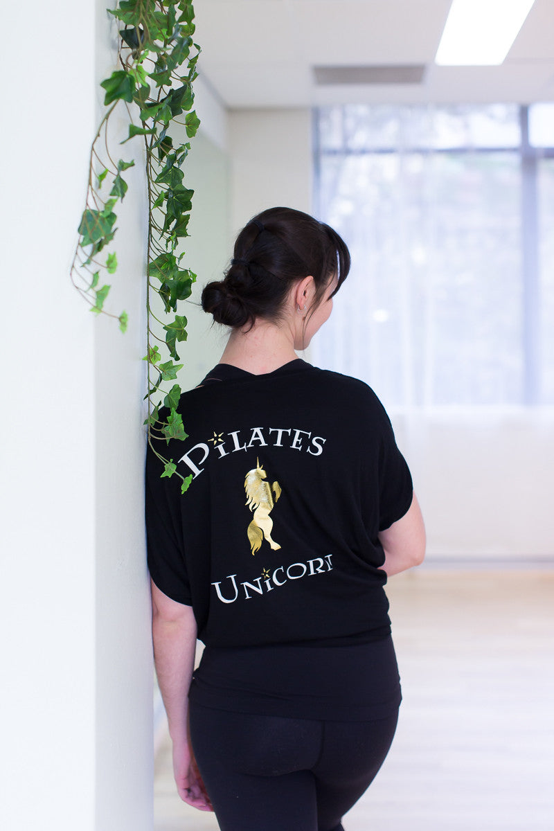 Pilates Unicorn loose sleeve tee