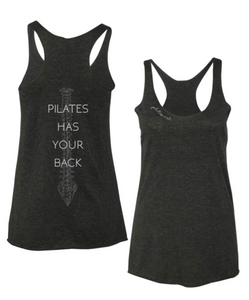 Pilates has your back tank in grey