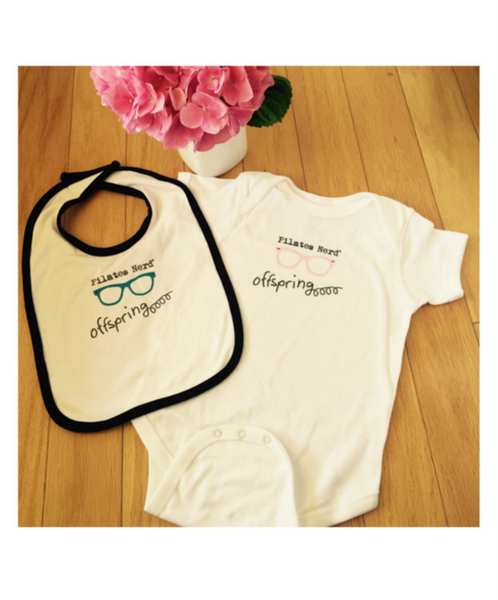 Pilates Nerd Down Under Bib for Baby