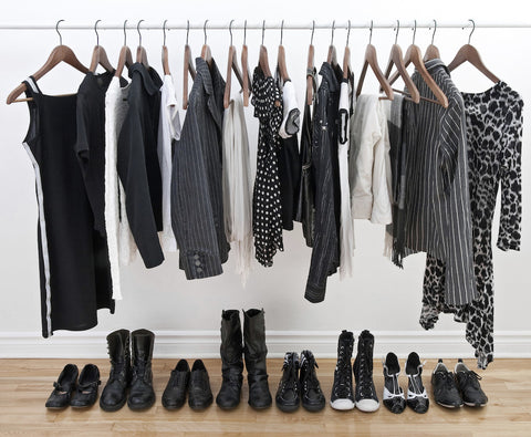 minimalist wardrobe, neutral, wardrobe