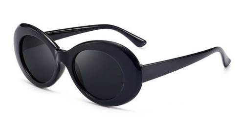 Thick Black Oval Sunglasses