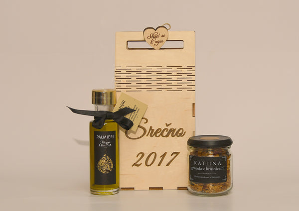 PALMIERI Virgin olive oil & PRESNICA Granola with cranberries