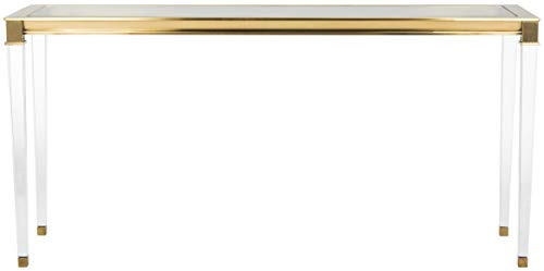 Safavieh Couture Collection Charleston Brass Acrylic Console Table
