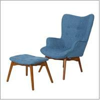 Christopher Knight Home Hariata Fabric Contour Chair Set, Muted Blue