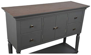 Décor Therapy Taylor Four Drawer Console Table, Gray