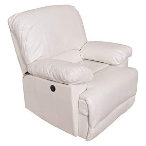 CorLiving Lea Collection Recliner, White