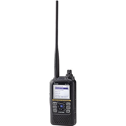 Icom ID-51A Plus2 VHF/UHF Portable Digital D-Star Transceiver - 5.5W Max - Black