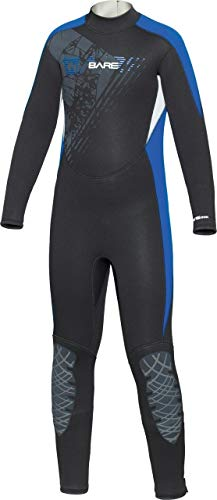 Bare 7/6mm Manta Youth Wetsuit (Blue, 10 Years)