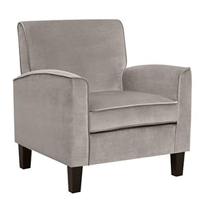 "Amazon Brand – Ravenna Home Christian Upholstered Mid-Century Modern Accent Chair, 31.89""W, Taupe"