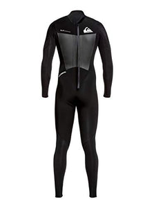 Quiksilver Mens 3/2Mm Syncro - Back Zip GBS Wetsuit for Men Back Zip GBS Wetsuit Black XXL