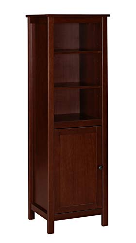 Amazon Brand – Ravenna Home Rola Rustic Storage TV Tower Media Cabinet, 19.7