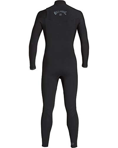 Billabong Men's 4/3 Revolution Chest Zip Fullsuit Black Large