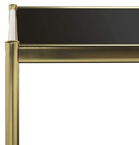 Safavieh Home Collection Zola Gold and Glass Rectangle Coffee Table
