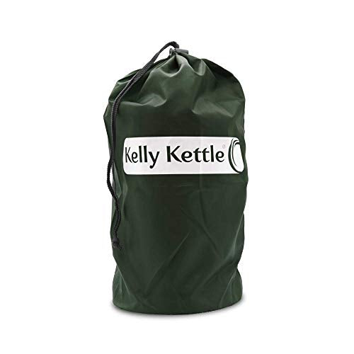 Kelly Kettle Base Camp 54 oz. Stainless Steel Basic Kit (1.6 LTR) Rocket Stove Boils Water Ultra Fast with just Sticks/Twigs. for Camping, Fishing, Scouts, Hunting, Emergencies, Hurricanes, Tornados