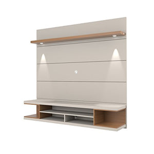 Manhattan Comfort Utopia Entertainment Center, Off-White/Maple Cream