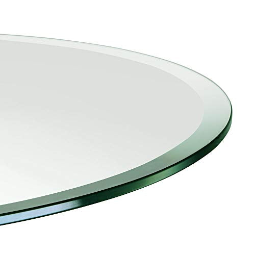 "TroySys - 1/2"" Thick Round Circle Glass Table (48"") 
