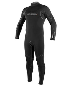 O'Neill Men's Dive Sector 7mm Back Zip Full Wetsuit, Black, Large