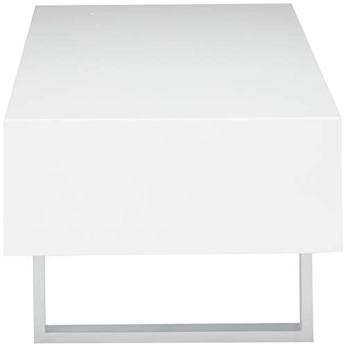 Coaster Home Furnishings Coffee Table, High Glossy White