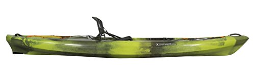 Perception Pescador Pro 12 | Sit on Top Fishing Kayak with Adjustable Lawn Chair Seat | Large Front and Rear Storage | 12' | Moss Camo