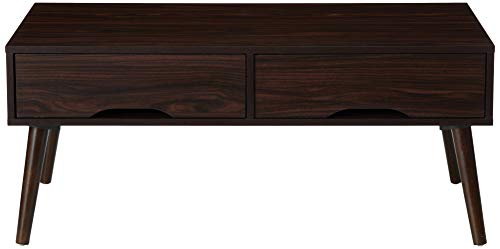 Christopher Knight Home Noemi Mid-Century Modern Fiberboard Coffee Table, Walnut Finish