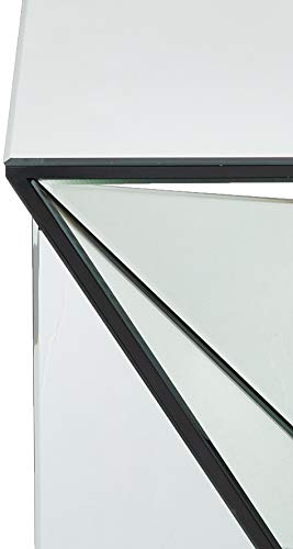 Christopher Knight Home Amiel Geometrical Mirrored Side Table, Clear