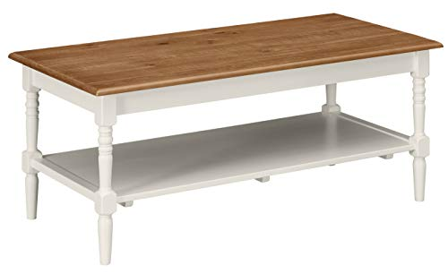 Amazon Brand �Ravenna Home Amber Rustic Farmhouse Shelf Coffee Table, 44