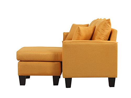 Divano Roma Furniture Modern Sectional, Yellow