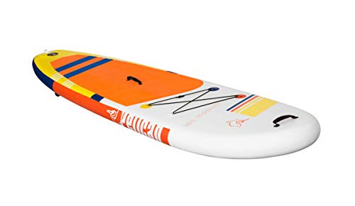 Antigua 106 Premium Inflatable 10.6 feet Stand-Up Paddle Board - SUP Accessories, Leash, Paddle, Hand Pump & Carry Bag