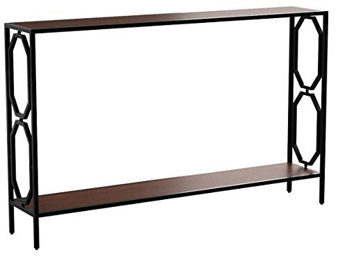 Convenience Concepts Omega Metal Frame Console Table, Cherry / Black