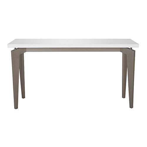 Safavieh Home Collection Josef White and Grey Lacquer Console Table, Medium Oak