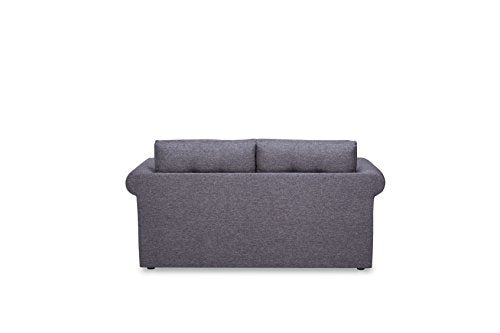 US Pride Furniture Modern Fabric Upholstered Reversible Loveseat with Sofa Bed and Tufted Finish Charcoal