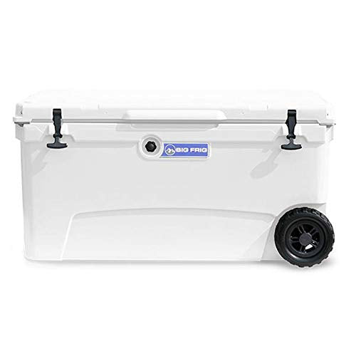 Big Frig Denali 70 Quart Insulated Wheeled Camp Cooler with Accessories, White