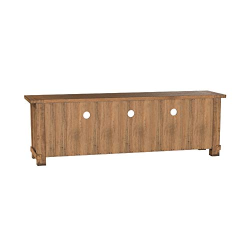"Amazon Brand – Stone & Beam Ferndale Rustic Reclaimed Pine Media TV Console Stand, 71""W, Sandstone"